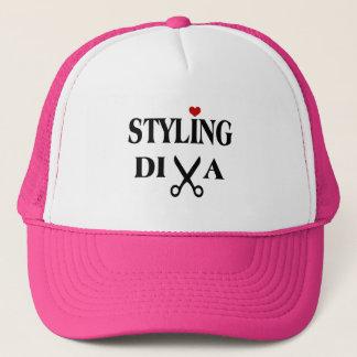 Styling Diva Scissors and Heart Stylist Trucker Hat