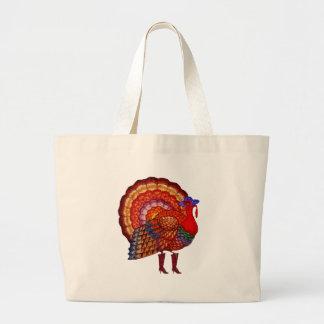 Styling Turkey Jumbo Tote Bag