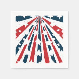 Stylised American Flag Paper Napkins