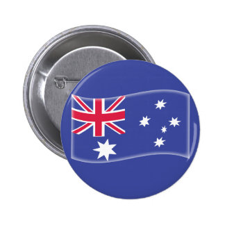 Stylised Aussie Australian flag on a blue backgrou 6 Cm Round Badge