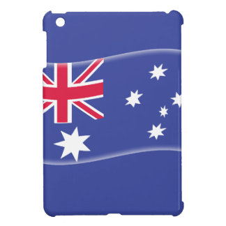 Stylised Aussie Australian flag on a blue backgrou iPad Mini Cover