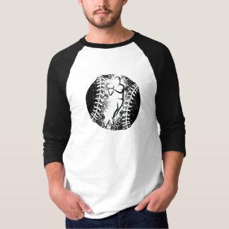 Stylised Baseball Throw with Grunge Background T-Shirt