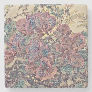 Stylised Bougainvillea flowers Stone Coaster