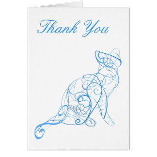 Stylised Cat  Thank You Card