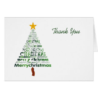 Stylised Christmas Tree Thank You Card