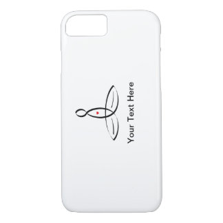 Stylised meditator with customisable text iPhone 7 case