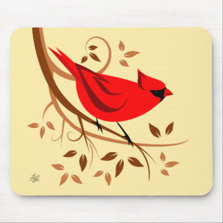 Stylised Red Cardinal Mousepads