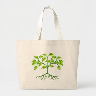 Stylised tree design canvas bag