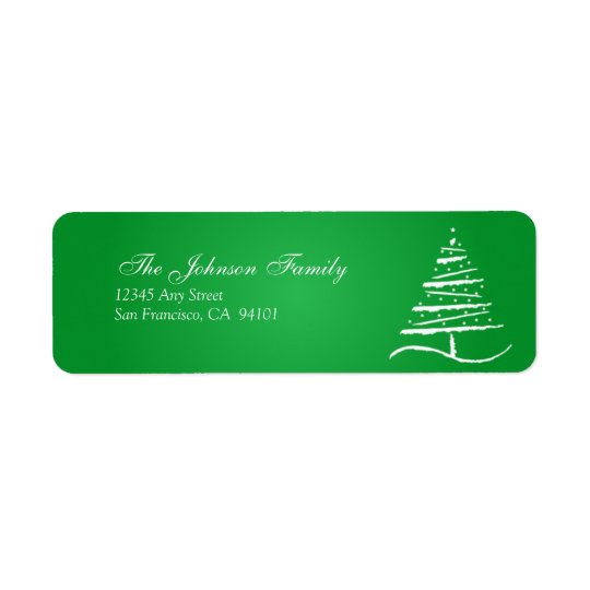 Stylised Tree Holiday Address Labels (green)