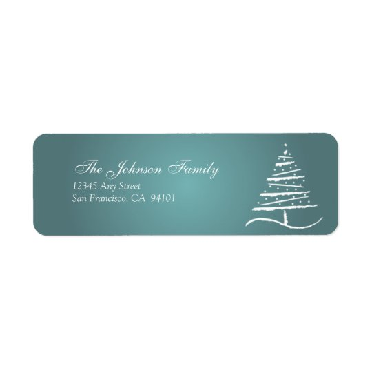 Stylised Tree Holiday Address Labels (slate blue)