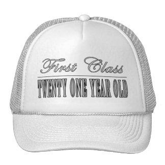 Stylish 21st Birthdays : First Class Twenty One Mesh Hat