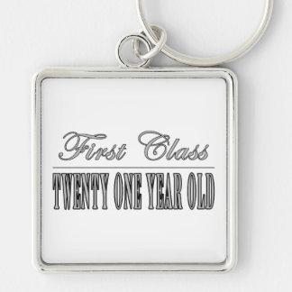 Stylish 21st Birthdays : First Class Twenty One Key Chain