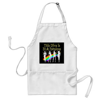 STYLISH 30 AND FABULOUS 30TH BIRTHDAY DESIGN STANDARD APRON