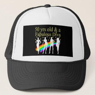 STYLISH 50 AND FABULOUS 50TH BIRTHDAY DESIGN CAP