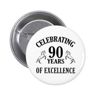 Stylish 90th Birthday Gift Ideas 6 Cm Round Badge