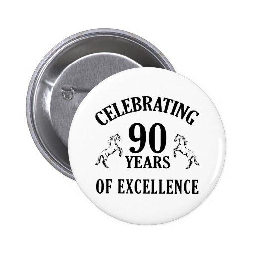 Stylish 90th Birthday Gift Ideas Pinback Button
