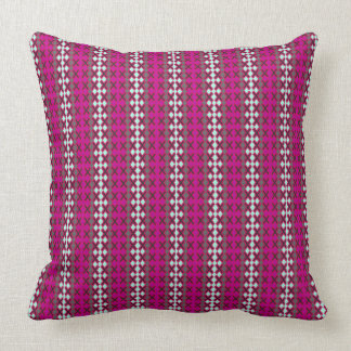 Stylish-Accents-Berry-White-Stripes-Lumbar-Square Cushion