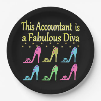 STYLISH ACCOUNTANT SHOE LOVER DESIGN 9 INCH PAPER PLATE