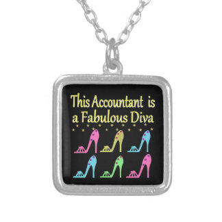 STYLISH ACCOUNTANT SHOE LOVER DESIGN SILVER PLATED NECKLACE