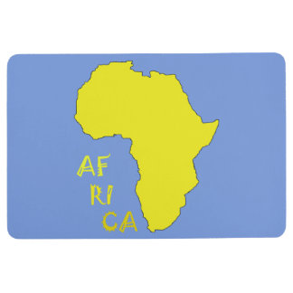 Stylish Africa Map Floor Mat