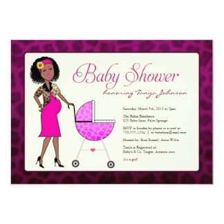 Stylish African American Baby Shower Card