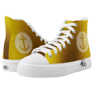 Stylish anchor | Nautical Gifts Printed Shoes