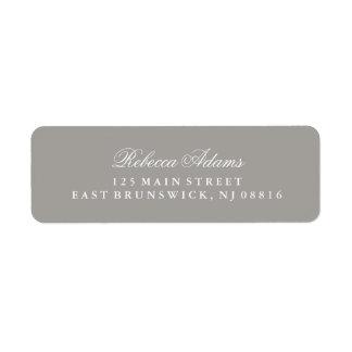 Stylish and Elegant Deep Gray Return Address Label