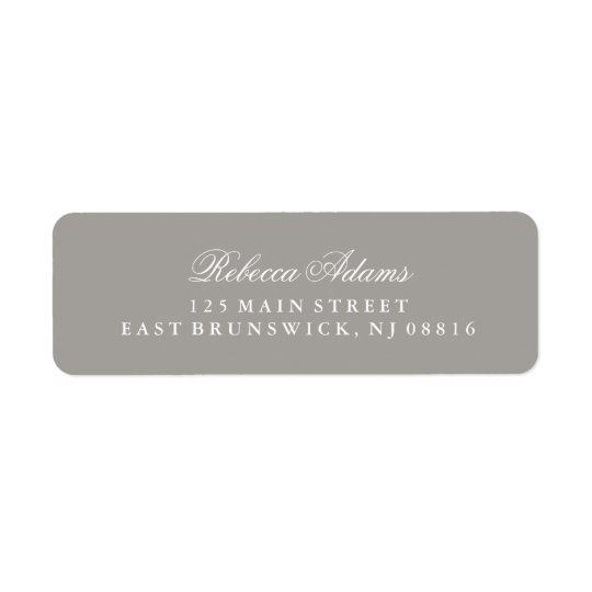 Stylish and Elegant Deep Grey Return Address Label