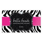 Stylish and Modern Zebra Print  Business Card