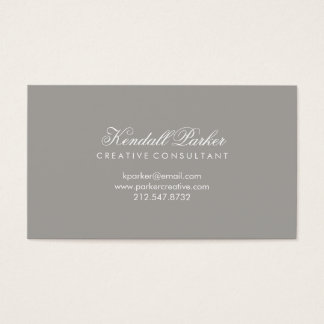 Stylish and Simple Deep Gray Business Card