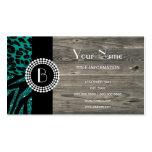 Stylish Animal Prints Zebra and Leopard Patterns Business Card Template