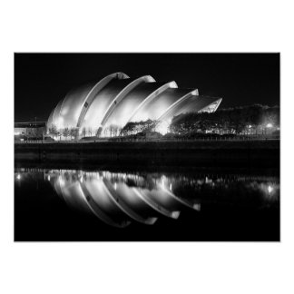 Stylish B&W Photo of the Clyde Auditorium Poster