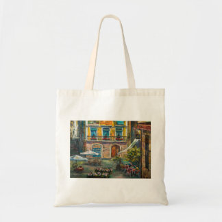 Stylish bag with Barcelona`s view
