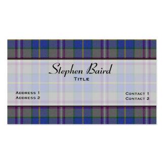 Stylish Baird Tartan Plaid Custom Double-Sided Standard Business Cards (Pack Of 100)