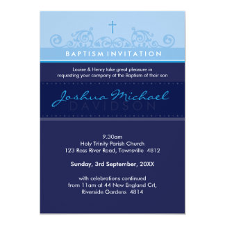 STYLISH BAPTISM INVITES :: elegant 5P