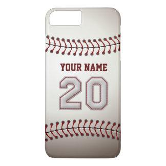 Stylish Baseball Number 20 Custom Name - Unique iPhone 7 Plus Case