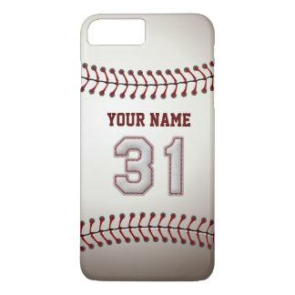 Stylish Baseball Number 31 Custom Name - Unique iPhone 7 Plus Case