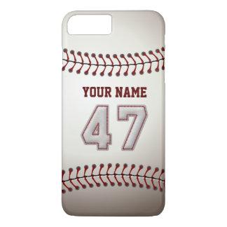 Stylish Baseball Number 47 Custom Name - Unique iPhone 7 Plus Case