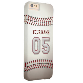 Stylish Baseball Number 5 Custom Name - Unique Barely There iPhone 6 Plus Case
