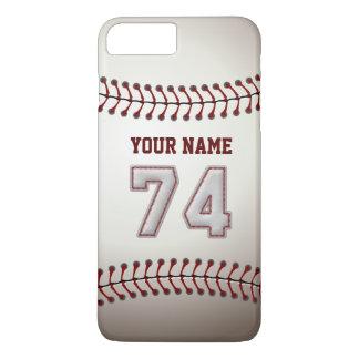 Stylish Baseball Number 74 Custom Name - Unique iPhone 7 Plus Case