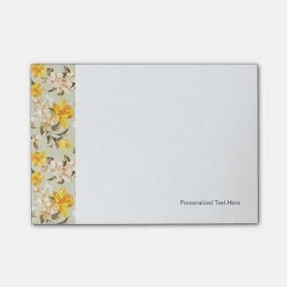 Stylish beautiful bright floral pattern post-it notes