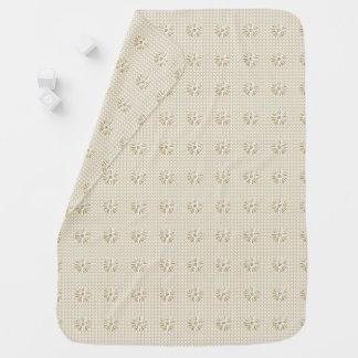 Stylish-Beige-Classy-Floral-Baby-Blanket Baby Blanket