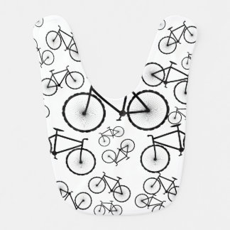 Stylish Bicycle Collage Bib