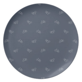 Stylish Bicycle Pattern Cyclist Plate