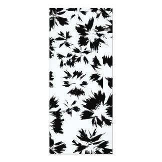 Stylish Black and White Floral Pattern. Personalized Announcement