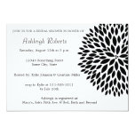 Stylish Black and White Flower Custom Announcements