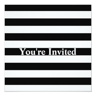 Stylish Black And White Horizontal Stripes Card