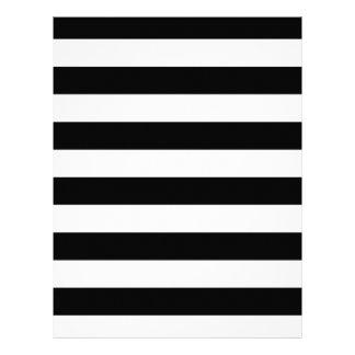 Stylish Black And White Horizontal Stripes 21.5 Cm X 28 Cm Flyer