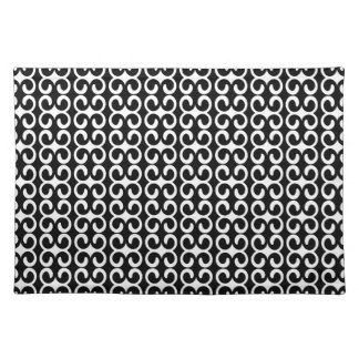 Stylish Black and White Pattern Placemat
