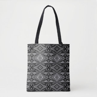 Stylish Black and White Pattern Tote Bag